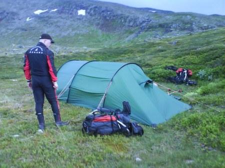 31 tält uppslaget